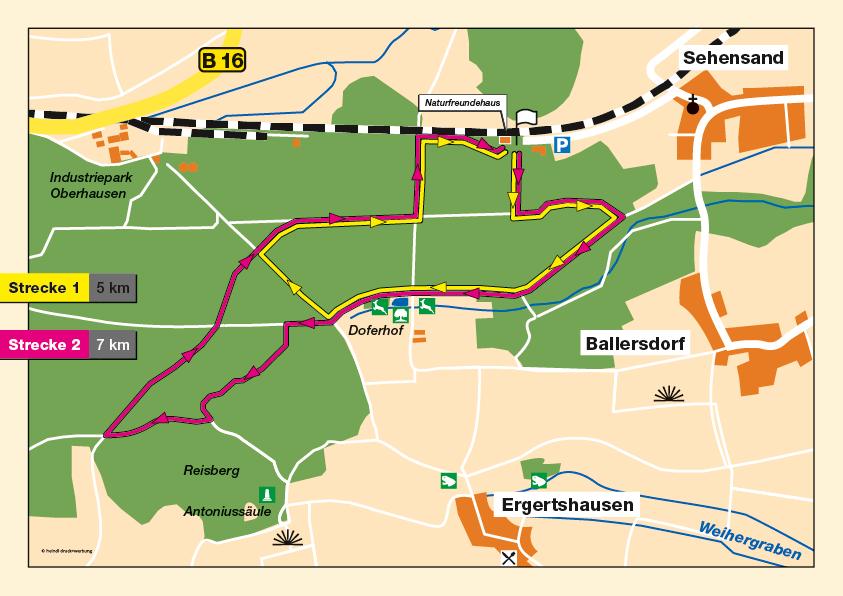 Neuburger Frühjahrswalking 2018 Strecke