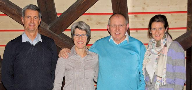 Die Vorstandsmitglieder des Aktiv Park. Von links nach rechts Heindl Michael, Eva Münsinger, Harald Müller, Heindl Claudia